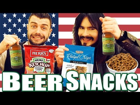 Irish People Taste - 'AMERICAN BEER SNACKS' - Free Bar Food!
