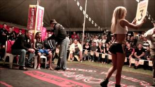 George Sonio fights challenger - Outback Fight Club - Burnett Heads 2015