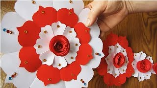DIY. Paper Craft. Paper Design For Special Occasion. Color Paper Wall Hanging. w2
