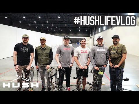 COULD YOU HIT A BULLSEYE AT 77 YARDS WITH YOUR BOW? #HUSHLIFE VLOG