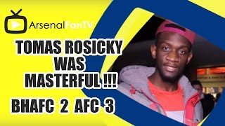 Tomas Rosicky Was Masterful !!! - Brighton 2 Arsenal 3
