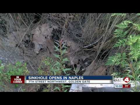 Sinkhole opens in Collier County