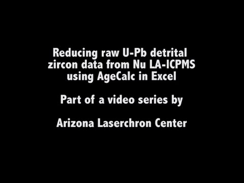 Nu LA-ICPMS - Detrital Zircon Age Reduction From Raw U-Pb Data
