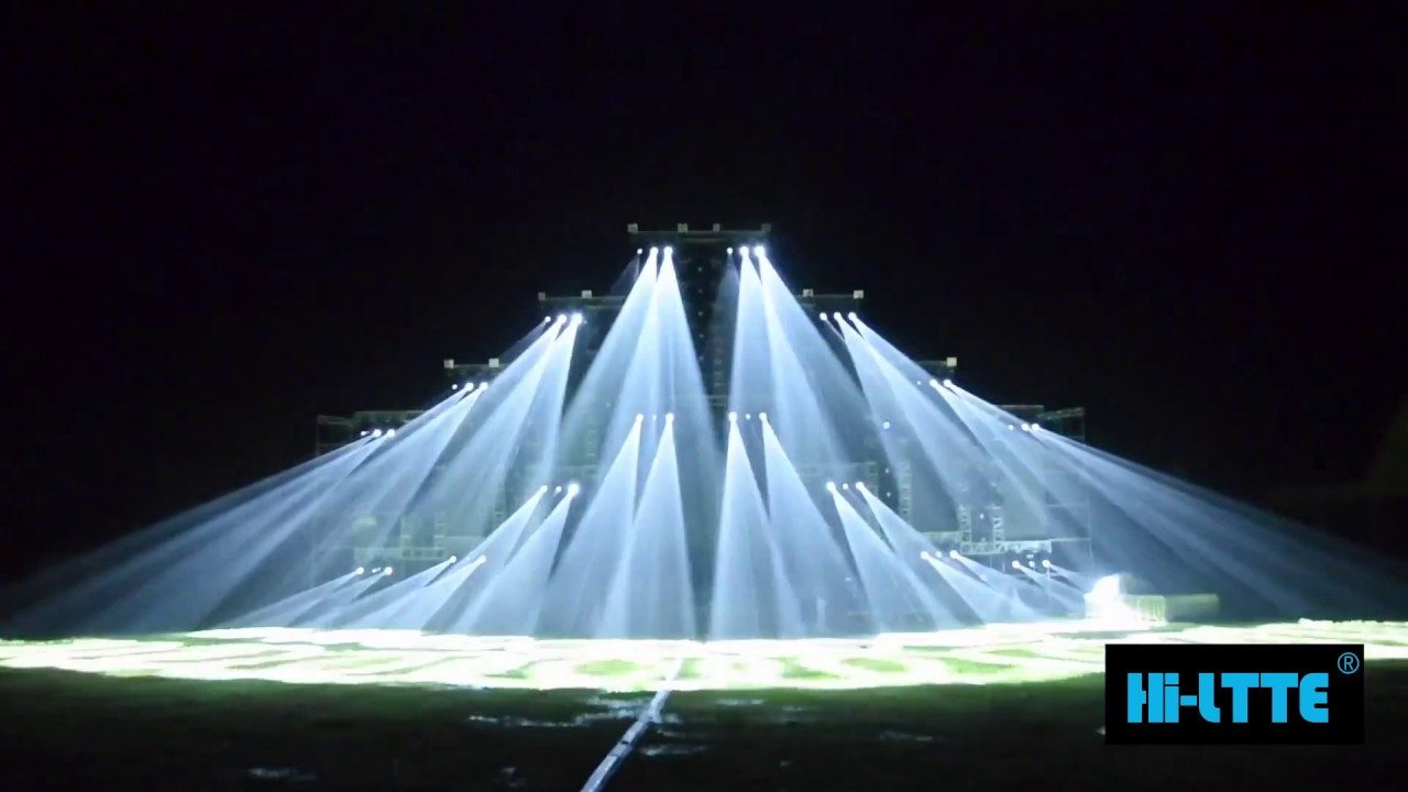 music festival stage lighting show by hiltte in