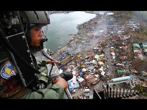 February 2014 in November 2013 Typhoon Haiyan: Britain and US sent warships to Philippines