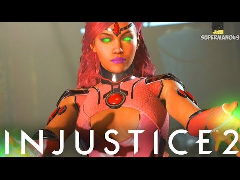 """THE HOTTEST PINK EPIC STARFIRE - Injustice 2 """"Starfire"""" Gameplay (Epic Gear)"""