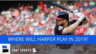 Bryce Harper: Top MLB Teams In 2019 Free Agency - White Sox, Giants, Nationals, Dodgers & Phillies