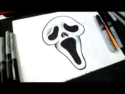 как рисовать крик лицо | граффити