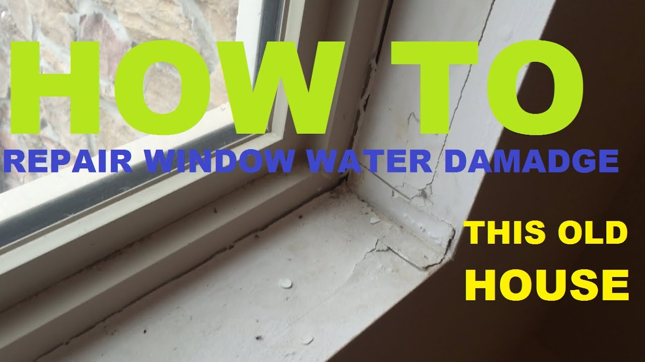 How To Repair A Leaking Window Frame Drywall Video 1 Of 3