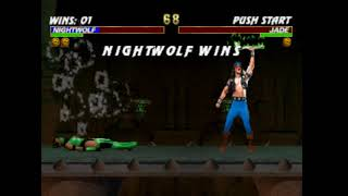 Mortal Kombat Trilogy-NIGHTWOLF Fatality 1 (lightning strike)