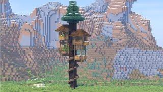 майнкрафт как сделать большой дом на дереве