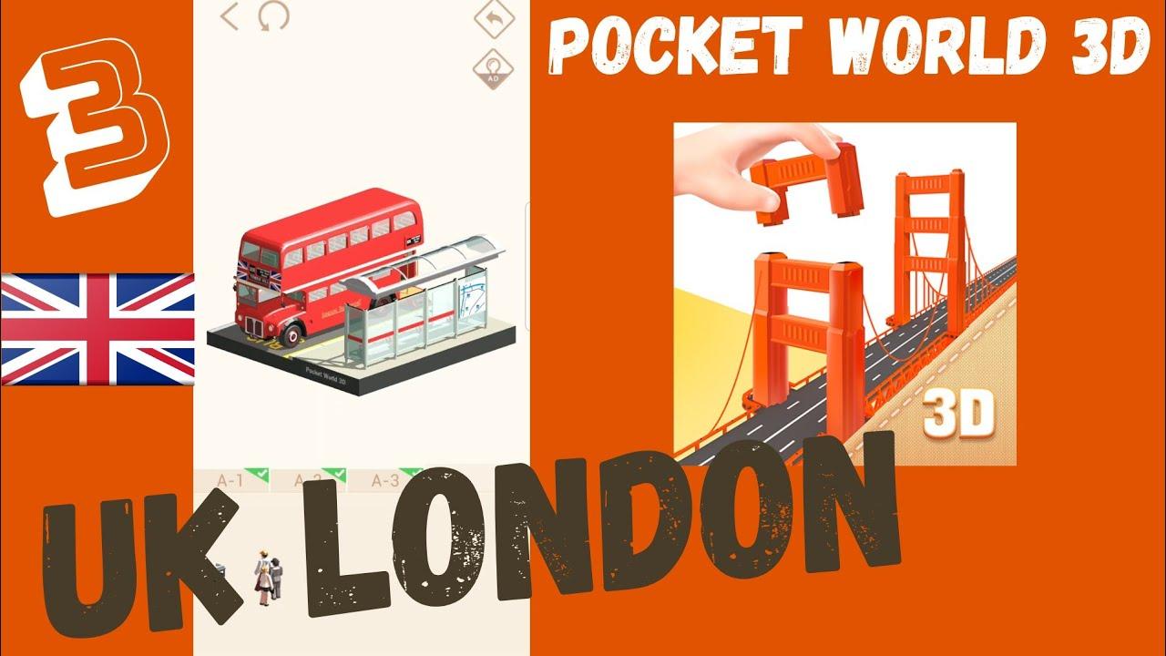 POCKET WORLD 3D. UK LONDON PART 3 Walkthrough - YouTube