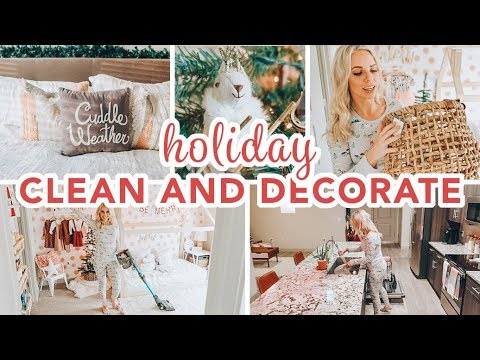 HOLIDAY CLEAN + DECORATE WITH ME 2019 / Caitlyn Neier