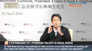Lim Swee Say on the labour movement in singapore Q&A part 3/4