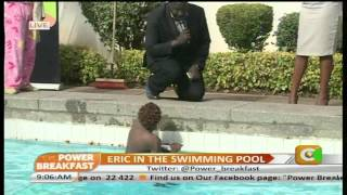 Power Breakfast Interview:Eric Omondi in The Swimming Pool