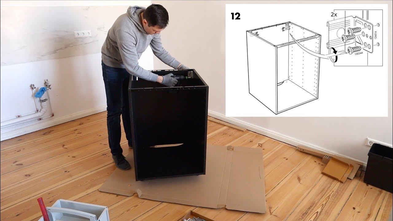 ikea metod unterschrank aufbau f r einbauofen sp le. Black Bedroom Furniture Sets. Home Design Ideas