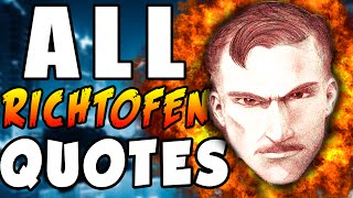 Call of Duty: Zombies - ALL RICHTOFEN QUOTES! - World At War, Black Ops  & Black Ops 2 Zombies