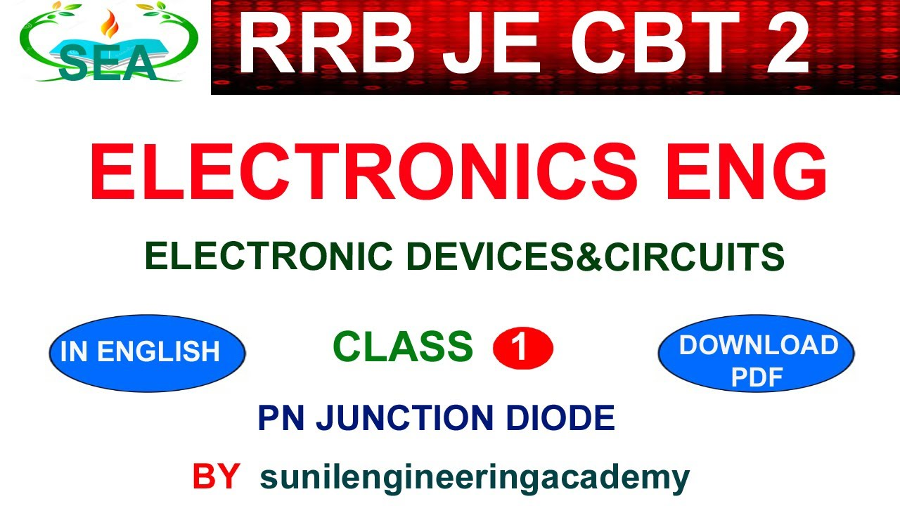 RRB JE CBT 2 ELECTRONICS ENGINEERING CLASSES IN ENGLISH /RRB JE CBT 2  EIE/CSE- EDC CLASS 1