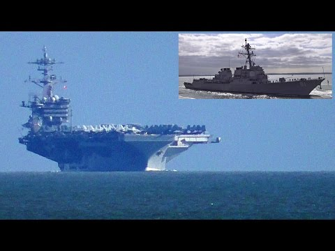 🇺🇸 USS Theodore Roosevelt & USS Winston S Churchill Arrive At Portsmouth England.