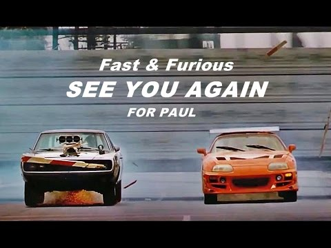 "Fast & Furious - Wiz Khalifa - ""See You Again"" ft. Charlie Puth (with Lyrics) [HD]"