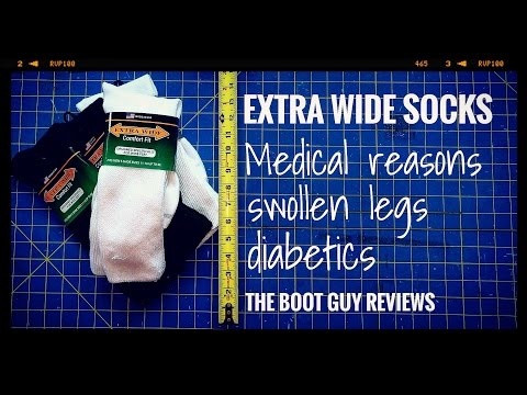 Extra Wide Athletic Crew Socks [ Edema & Diabetic socks ] [ The Boot Guy Reviews ]
