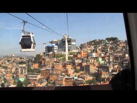 Riding the Cablecar at Complexo do Alemão in Rio de Janeiro from Morro da Baiana to Morro do Alemão