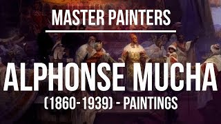 Alphonse Maria Mucha Paintings (1860-1939) 4K Ultra HD