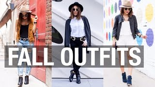 Fall Lookbook 2015 | 3 Outfits