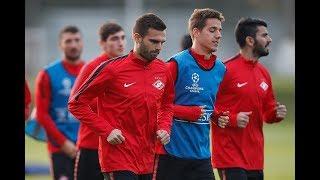 Тренировка в Тарасовке перед матчем с «Ливерпулем»