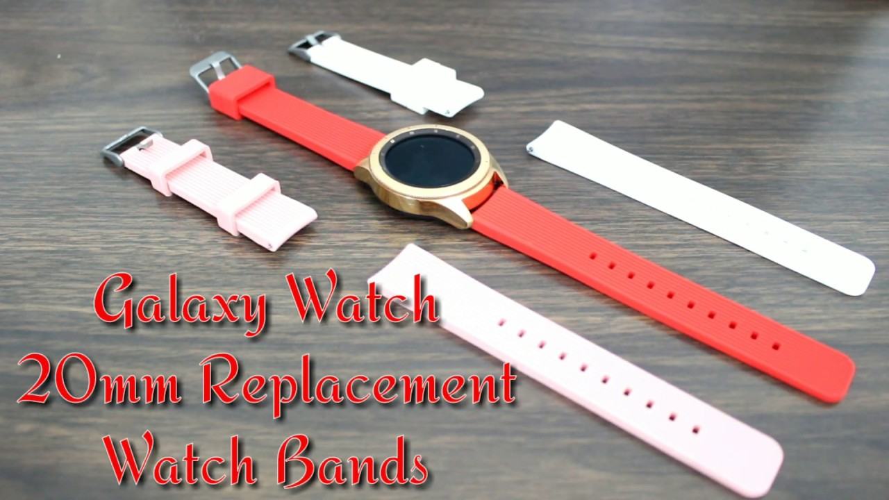 Samsung Galaxy Watch Rose Gold Midnight Black 20mm Silicone Replacement Watch Band