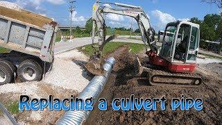 Replacing A Culvert Pipe