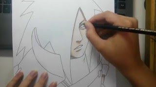 Speed Drawing - Uchiha Madara (Naruto)