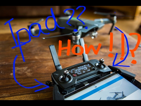 How To Fit Ipad Mini On A Dji Mavic Controller With A Special Cable Youtube
