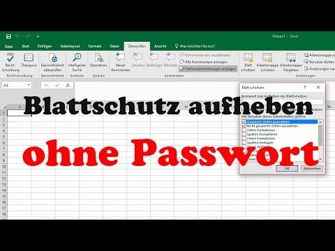 Excel 2016, 2013: Blattschutz aufheben - Passwort vergessen ...