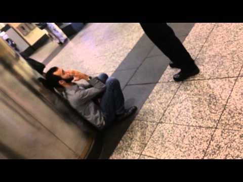 Cop Harassing Young Idiot in Penn Station