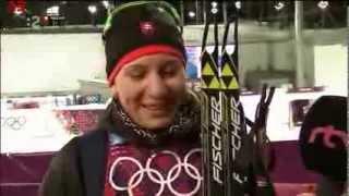 Anastasia Kuzminova po sprinte v Sochi 2014