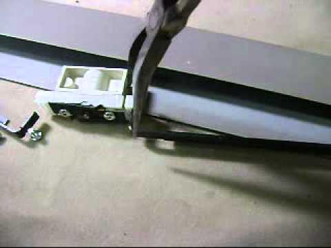 Haworth lock device lateral file cabinet remove and