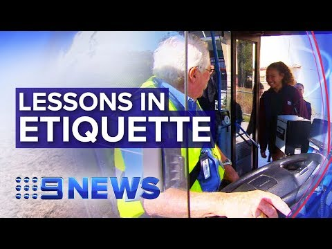 Australian Students Learn Public Transport 'etiquette' | Nine News Australia