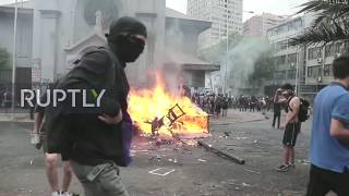 Chile: Protesters loot church, burn its contents in Santiago