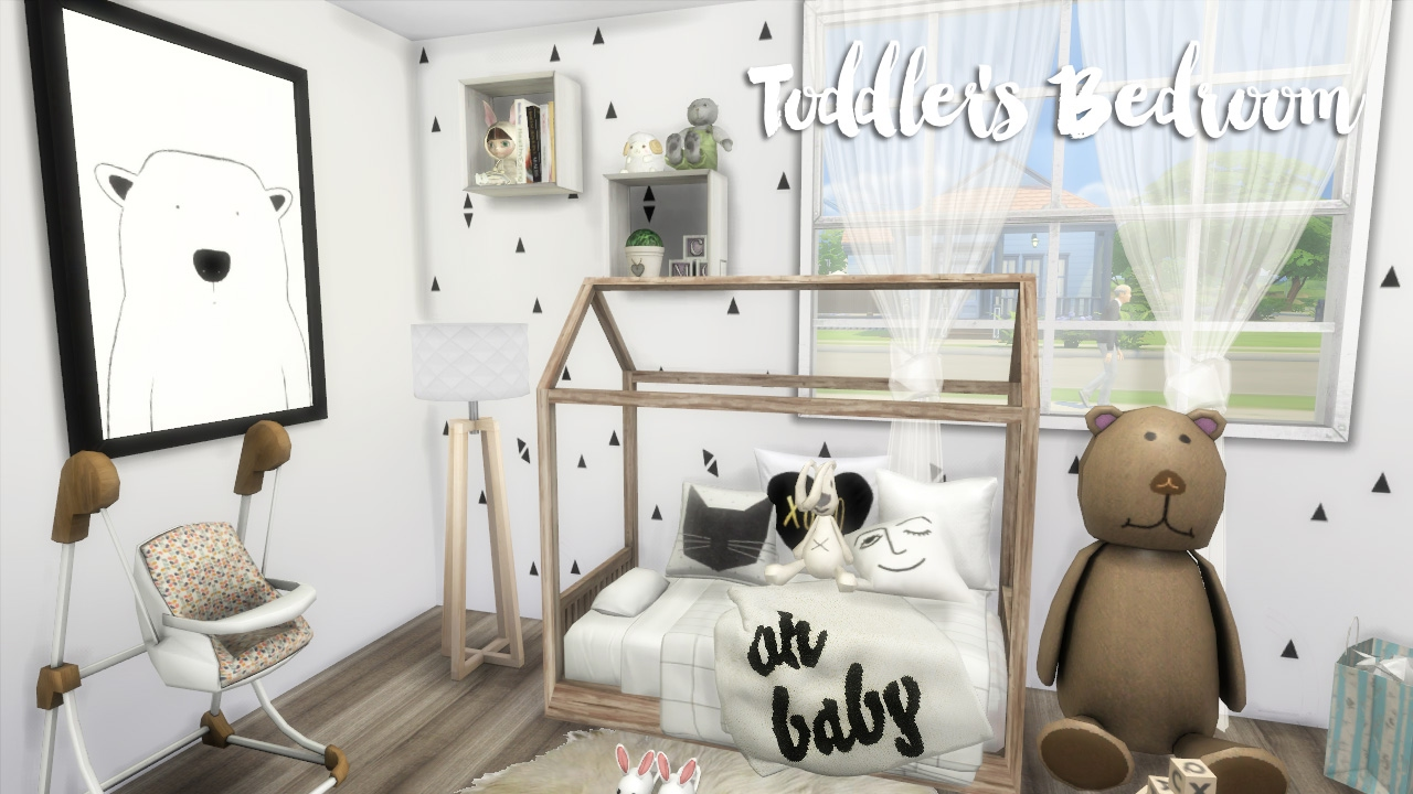 the sims 4: toddler's room build - youtube