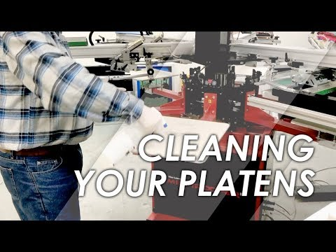 Cleaning Your Screen Printing Platens