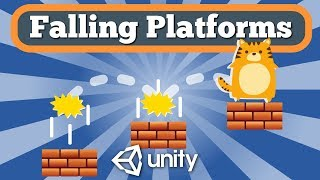 Unity Tutorial How To Create Falling Platforms For Simple 2D Platformer Game.