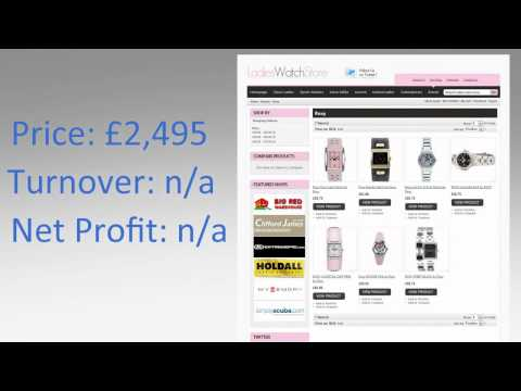 LadiesWatchStore.co.uk Website For Sale