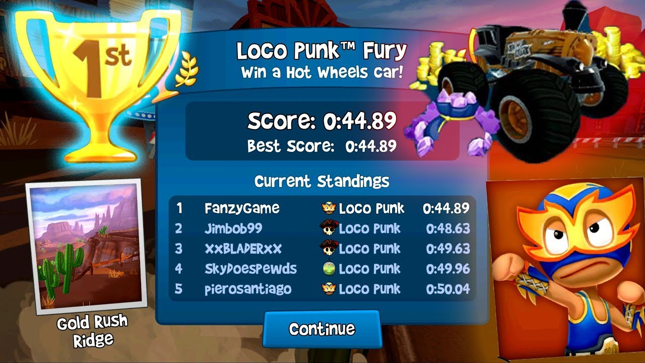 Loco Punk Fury - Hot Wheels Special Event 1st Place - New Update - Beach Buggy Racing 2