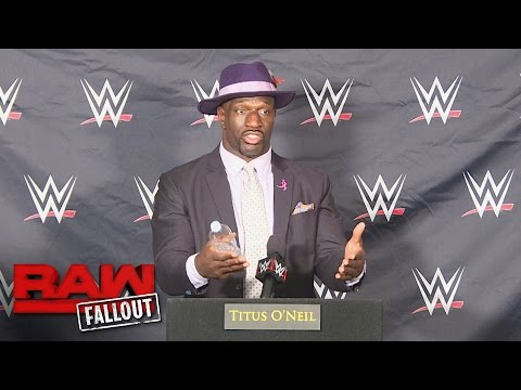 Titus O'Neil is on Raw to build a brand, not a team: Raw Fallout, Oct. 17, 2016