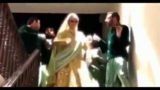 Indian bride dancing on Chura ke dil mera