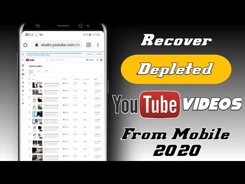 How To Recover Deleted YouTube Videos   YouTube Ki Delete Ki Hue Video Vapas Kaise Laye