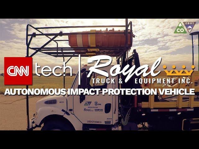 Royal Truck & Equipment Autonomous Impact Protection Vehicle featured on CNN Tech