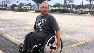 Wheelchair up and down a curb