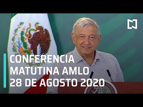 Conferencia matutina AMLO / 28 de agosto de 2020